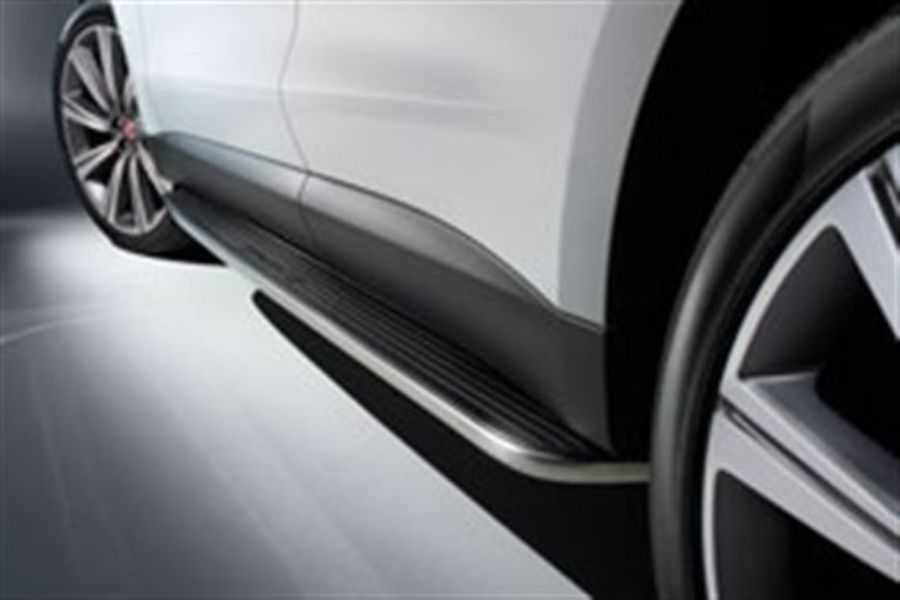 Deployed Side Steps For Range Rover Genuine Accessory: Jaguar F-Pace Fixed Side Steps