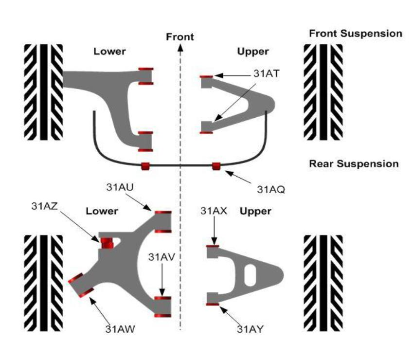 jaguar xk8 front suspension diagram